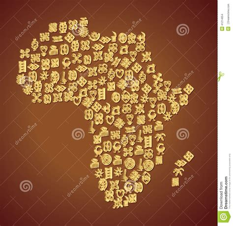 adinkra symbol map of africa stock vector image 41214654