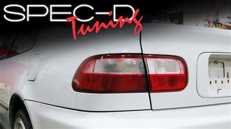 Stop L Honda Civic 2016 On Sedan Light Bar Smoke specdtuning installation 1992 1995 honda civic coupe and sedan lights