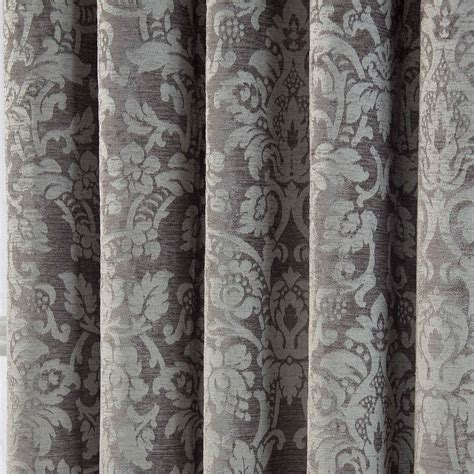 lined grey curtains velvet jacquard pencil pleat lined ready made curtains