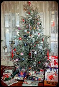 Vintage Christmas Tree vintage with tinsel 1951 christmas vintage