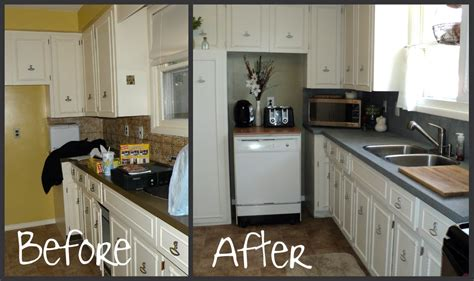 painted kitchen countertops craft kitchen countertop a spray paint affair