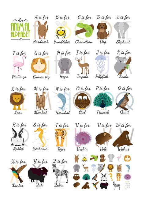 animal alphabet animal alphabet alphabet alphabet cards