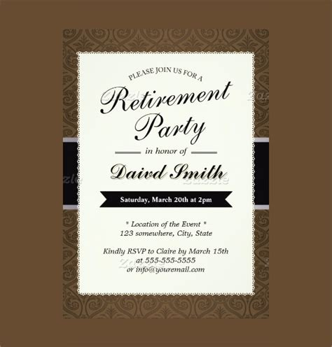 retirement party invitation style rpi 10 retirement party cards