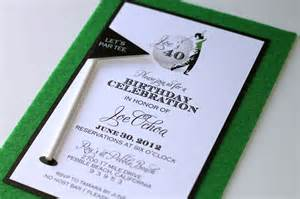 embellished paperie 40th birthday golf themed invitations