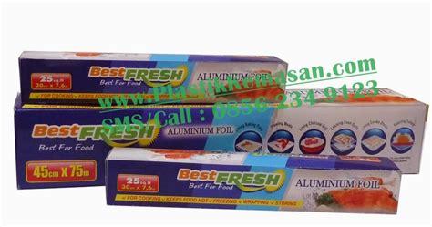 Aluminium Foil Sheet Merk Best Fresh Untuk Keperluan Rumah Tangga pabrik plastik kemasan aluminium foil roll