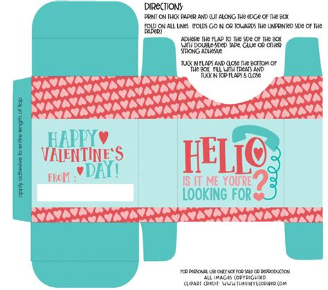 templates for valentines day boxes free hello is it me you re looking for valentine s day