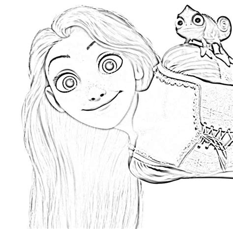 happy rapunzel tangled coloring pages smile lugares
