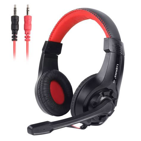 Pro 1 Pegang Jepit Headset lupuss wired headphone stereo sound earphone adjustable pro gaming headset with mic 3 5mm audio
