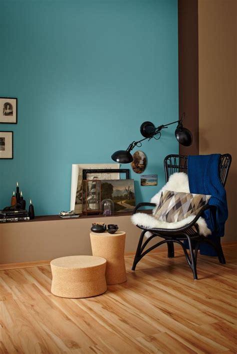 Wandfarbe Braun Kombinieren by Helle Nat 252 Rliche Farben Und Petrol Wirken Wohnlich Bild