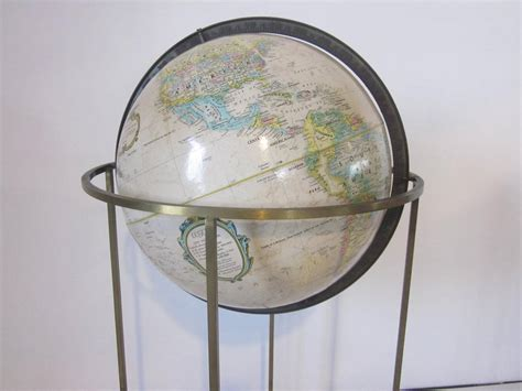 top 28 floor l globes brushed stainless floor globe at 1stdibs floor globes replogle