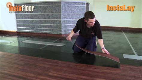 lvt installation using instalay self adhesive acoustic underlay loose laid youtube