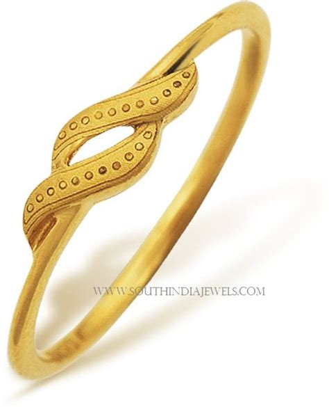 ring price gorgeous gold rings with price below 6000 south india jewels