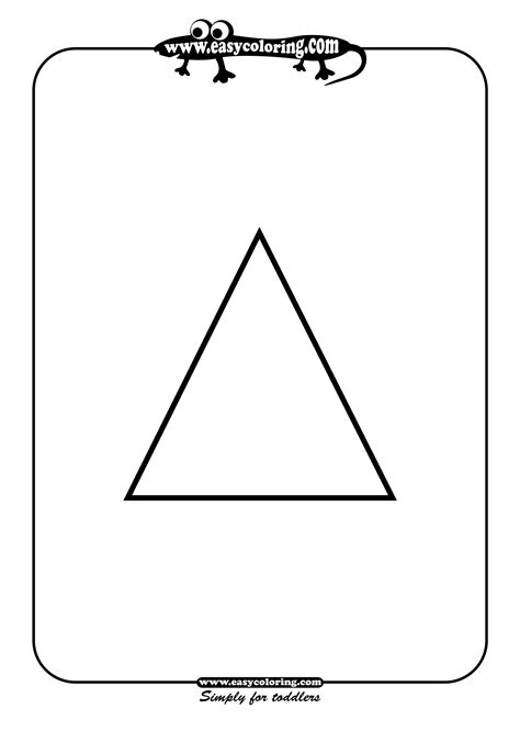 triangle coloring pages for toddlers triangle simple shapes easy coloring pages for toddlers