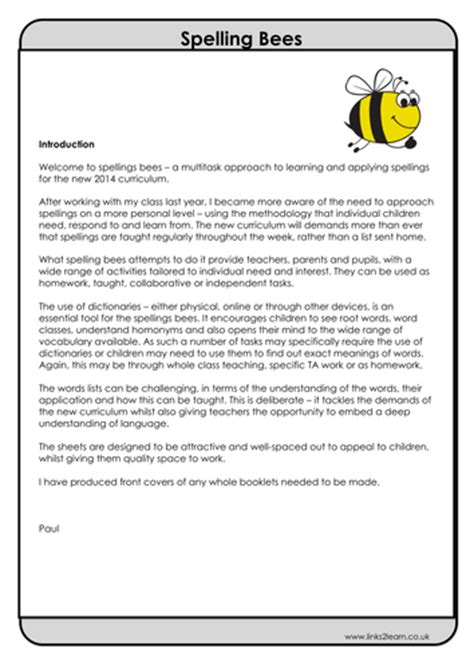 The Other Uk Version Bee Us Version 12 spelling bees lists multi task activities for phonic
