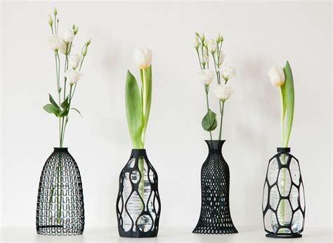 these sculptural vases are designed to use an plastic