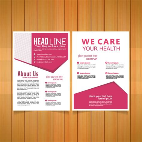 Medical Brochure Template Vector Free Download Healthcare Brochure Templates Free