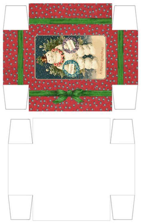 printable xmas boxes treefeathers christmas gift boxes