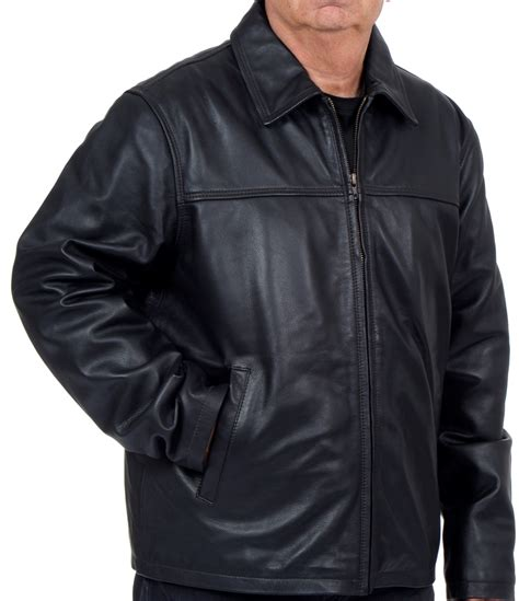 Rugged Leather Jacket by R O S Leather Rugged Open Bottom Leather Jacket