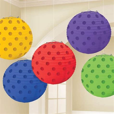 Rainbow Hanging Decoration rainbow foil dot hanging lantern decorations