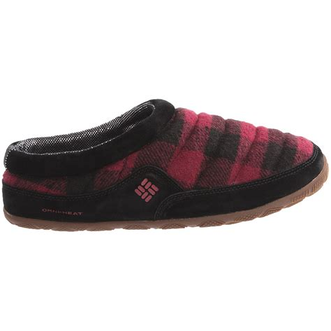 columbia sportswear slippers columbia sportswear packed out omni heat 174 flannel slippers
