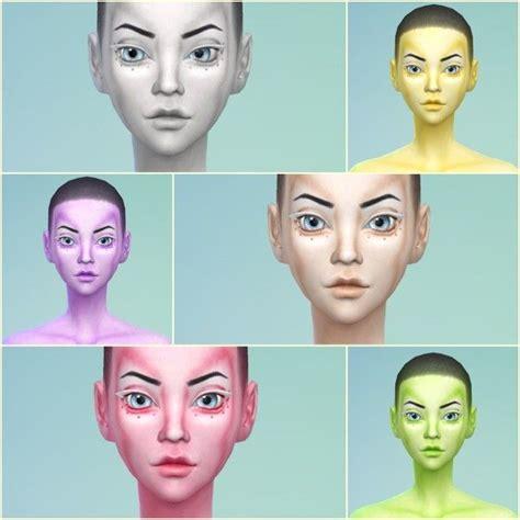 sims 4 cc skin colors jessie sims 4 6 colors alien skins sims 4 downloads