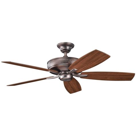 kichler ceiling fan without light in oil brushed bronze