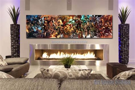 wall prints for living room aliexpress com buy avengers superhero marvel comics