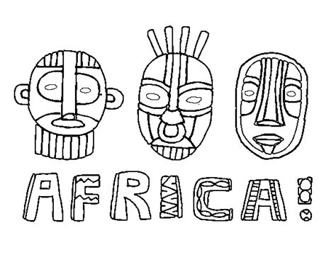 free coloring pages of tribal african mask