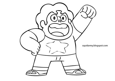 free coloring pages of steven universe