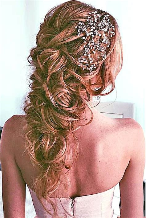 Wedding Hairstyles With A Braid On The Side by 42 Best Wedding Hairstyles For Hair 2017 Wedding