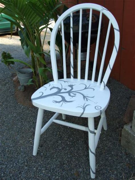 Painted Armchair by Cool Custom Painted Chairs One House One