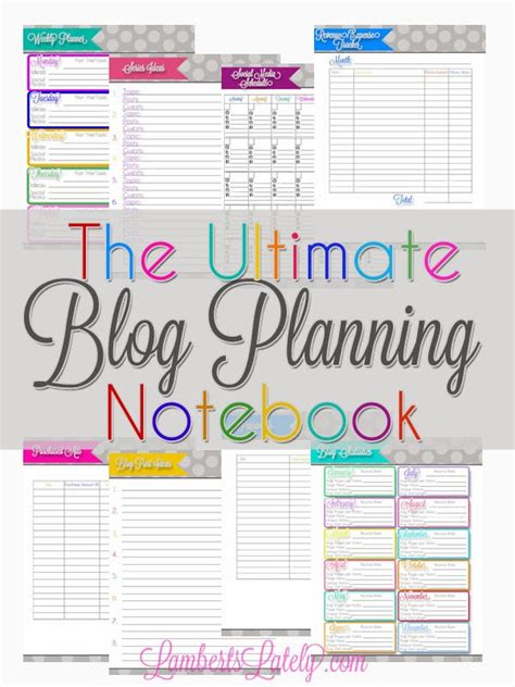 Ultimate Blog Planner Printable | the ultimate blog planning notebook lambertslately com