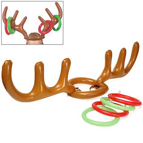 3 set children inflatable santa funny reindeer antler hat