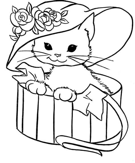 cute cat coloring pages cutest animal ever gianfreda net