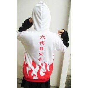Jaket Yondaime Hokage Hoodie Anime yondaime minato text hoodie jacket