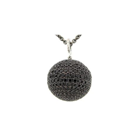Wst 11021 Chain Necklace Black dilamani jewelry black spinel pendant