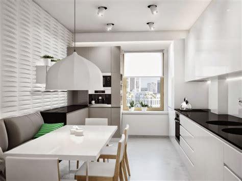 lovely Narrow Galley Kitchen Designs #1: long-narrow-kitchen-ideas-white-narrow-kitchen-design-with-lights.jpg