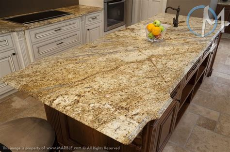 Yellow River Granite Countertops by The Dramatic Veining Of Yellow River Is Featured