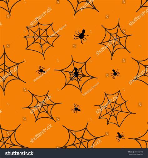 spider web pattern paper halloween black spider web pattern orange stock vector