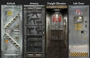 Sci Fi Home Decor by Metal Core Door Sticker Decals