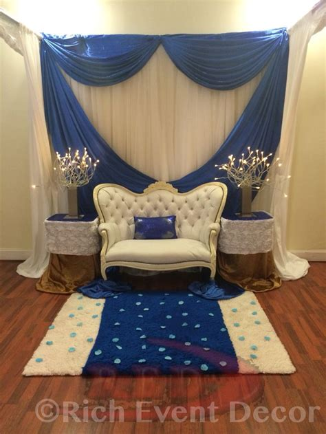 royal blue and gold baby shower chair www richeventdecor babyshower chair