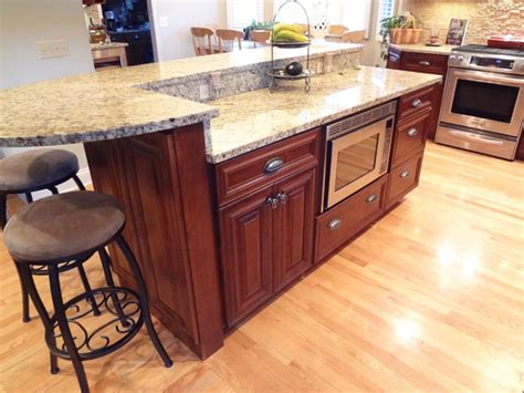 Buffalo Grove Kitchen With 2 Tier Island Traditional Two Tier Kitchen Island Designs