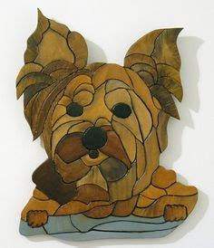 yorkie intarsia wood intarsia wood patterns wood sculpture