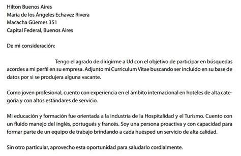 Modelo Carta De Presentacion Curriculum Argentina Carta De Presentaci 243 N Laboral Ejemplos Y Modelos Gratis