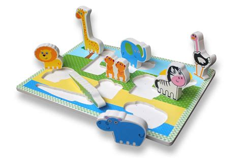Mainan Edukatif Puzzle Kayu Gambar Zebra puzzle chunky binatang safari mainan kayu