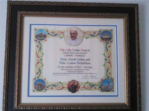 Wedding Blessing From The Pope by Papal Blessing You Might Not Be Able To Send The