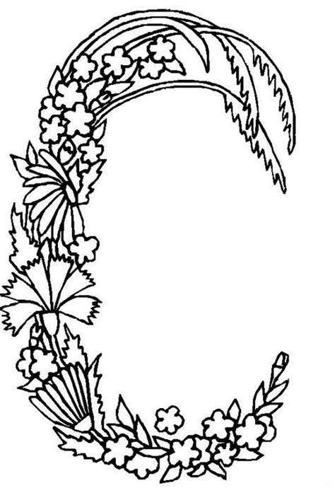 Letter C Coloring Pages For Adults by Alphabet Flower C Coloring Pages Free Printable Coloring
