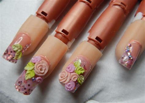 imagenes de uñas de acrilico en 3d dual system nails u 241 as acrilicas rosas en 3d youtube