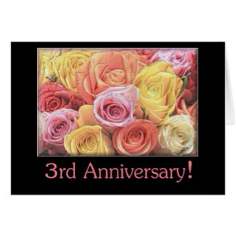 3rd Anniversary Card Template by Be Back Soon