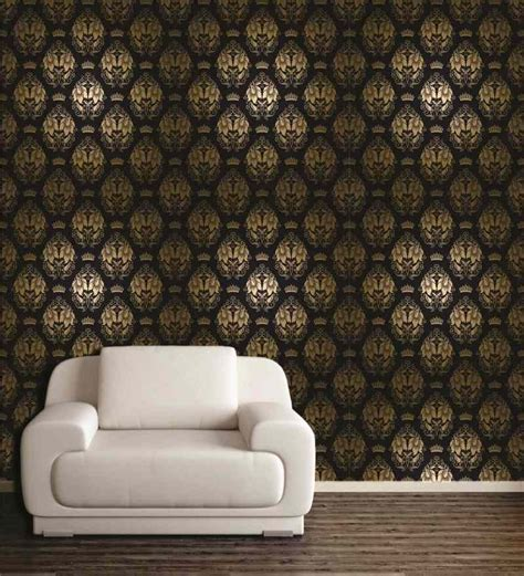 beige wall decor wall decor beige and black patterned pvc free wallpaper by